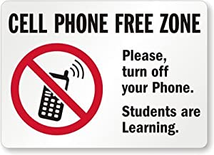 cell phone free zone please turn off your phone students are learning aluminum. Black Bedroom Furniture Sets. Home Design Ideas