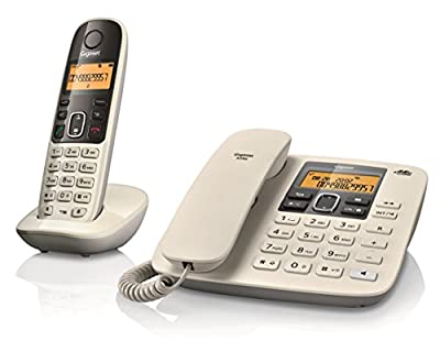Gigaset A590 Corded Cordless Combo Phone (White)