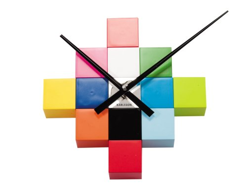 Karlsson Do-It-Yourself Cubic Wall Clock, Multicolor – Modern Wall Clock