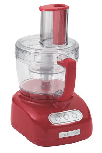 KitchenAid KFP750ER 700-Watt 12-Cup Food Processor, Empire Red