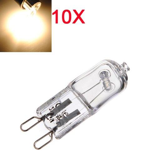 10X G9 40W Warm White Halogen Bulb Light Lamp 3000-3500K Globe 230V