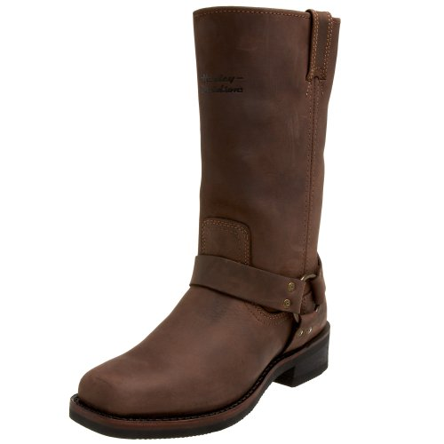 Harley Davidson Mens Hustin Boot,Brown,7 M
