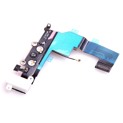 Dhshop Headphone Jack Mic Charging Port Dock Connector Flex Cable For Iphone 5S White
