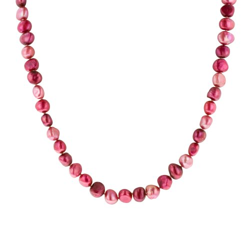 Multi-Color Cranberry Freshwater Cultured Pearl Necklace, 54