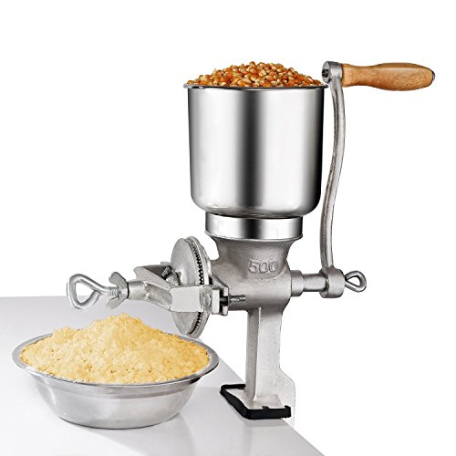 Premium Quality Cast Iron Hand Crank Manual Corn Grinder For Wheat Grains coffee Nut Mill Tall