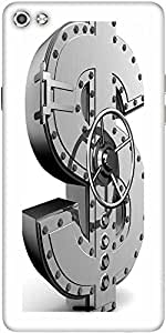 Snoogg Money Bank Designer Protective Back Case Cover For Micromax Canvas Silver 5 Q450