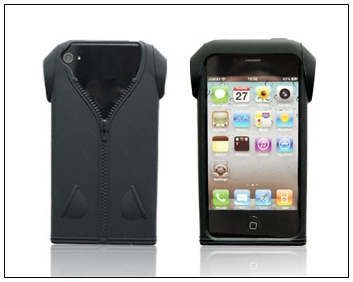 Silicone Black Clothes Clothes Apple Cover Case Iphone