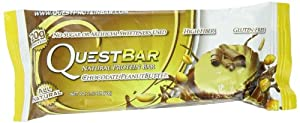 Quest Nutrition Protein Bars, Chocolate Peanut Butter, 2.12 oz,  (Pack of 12)