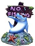 Blue Ribbon Pet Products Resin Ornament – Cool Shark – No Fishing Sign thumbnail