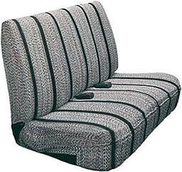 Saddleman Universal Front Bench Seat Cover - Saddle Blanket Fabric (Black)