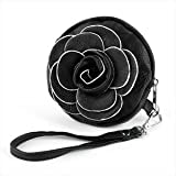 Black Flower Faux Leather Bag/Purse AJ23140