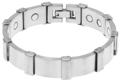 Sabona Executive Brushed Stainless Magnetic Bracelet, Size XL