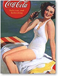 """Coca-Cola Pin Up girl Vintage Advertising Poster Reproduction 16""""X20"""""""
