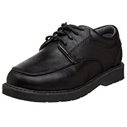 School Issue Graduate 5300 School Uniform Shoe (Toddler/Little Kid/Big Kid),Black Leather,4 M US Big Kid