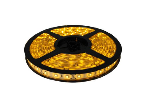 Cbconcept 12V60Smd3528-Ip67/5M-Y Waterproof Ip67 Low Voltage 12 -Volt Smd3528 Flexible Led Strip Light, 16.4-Feet Spool, Yellow
