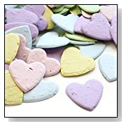 Heart Shaped Plantable Seed Confetti Value Pack (two 350 piece bags = 700 pieces of seed confetti)