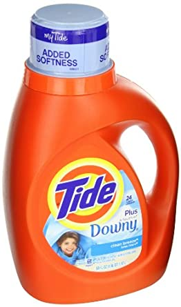Tide 13808 Clean Breeze Scent Touch of Downy Liquid Laundry Detergent, 50 Ounces, 24-loads (Case of 6)