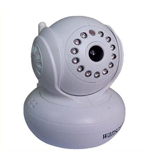 Wanscam Jw0004 Indoor Wireless Ip Camera With Cmos Sensor/Wi-Fi/Free Ddns/Ir Led Night Vision - White