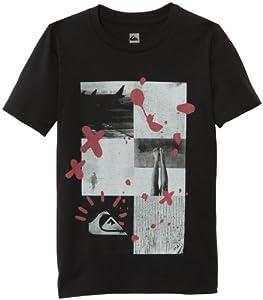 Quiksilver Basic T-Shirt manches courtes garçon Noir FR : 8 ans (Taille Fabricant : T08)