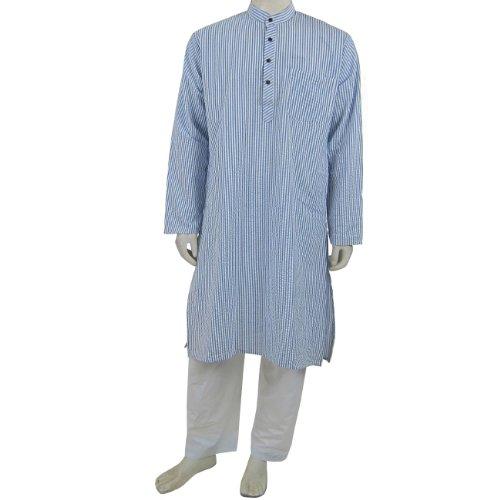 Mens Cotton Clothing Kurta Pajama for Meditation Chest : 101 Cms (M/40)
