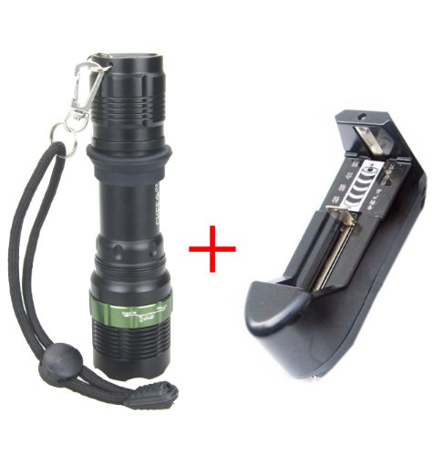 Nuoya001 1600 Lumen Cree Xm-L T6 Led 18650 Flashlight Zoomable Torch Zoom Lamp Light New