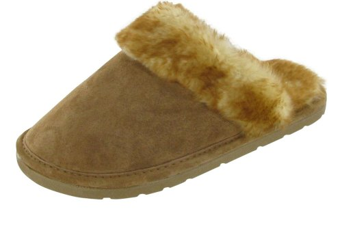 Cheap Lamo Womens Leopard Scuff Slipper (lawsP003Wslipper PT)
