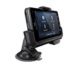 Motorola Droid 3 Vehicle Dock with Rapid Vehicle Charger - Mount - Retail Packaging - Black