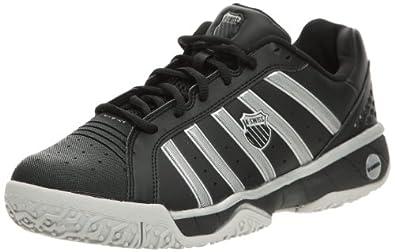K-Swiss 02575-019-M - Zapatillas de tenis de cuero para hombre, color negro, talla 45.5