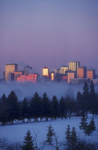 Misty Skyline, Edmonton, Alberta