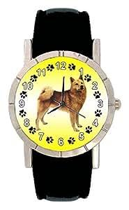 Amazon.com: Finnish Spitz Dog Photo Design Watch with Leatherband