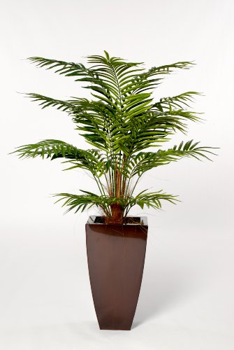 House of Silk Flowers Artificial Areca Palm Floor Plant 28″W x 48″H