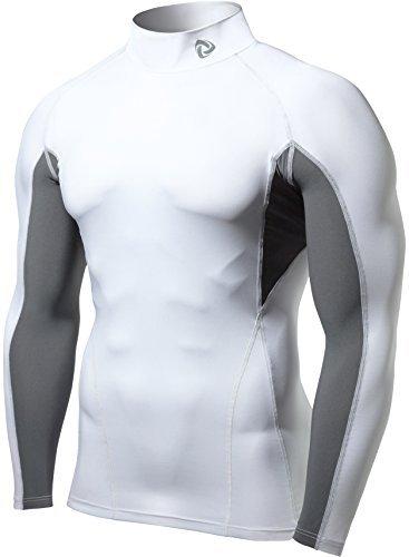 Tesla-Men-s-Cool-Dry-Compression-Baselayer-Mock-Long-Sleeve-T-Shirts-T12-TM-T12-WGWZ-X-Large