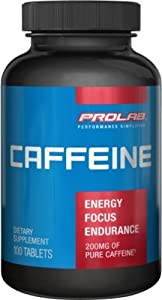 3 x Caffeine Tablets (Pills) 200mg by ProLab