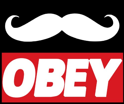 "Obey the Mustache Bumper Sticker Obey Giant Car Decal 5"" X 4"""