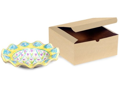 OATMEAL Gift Boxes 8 x 8 x 3.5100% Recycled Pinstripe - 1 Pc Box (1 unit 100 pack per unit.)
