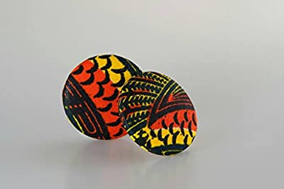 "Fabric button earrings (1 7/8""), African fabric button earrings, Ankara fabric button earrings, Fabric Earrings, Button earrings (Nuna)"