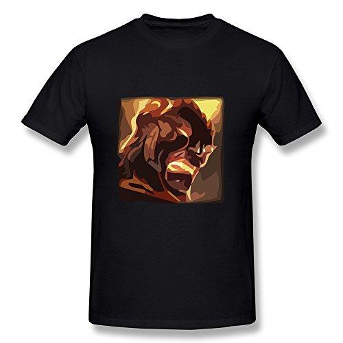 Van Men's League Of Legends Hero Revenge Flame Soul Brand Icons T Shirts XXL Black