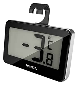 Hanson Fridge/ Freezer Thermometer, Black