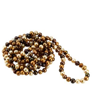 Genuine IceCarats Designer Jewelry Gift NA Freshwater Cultured Dyed Choco. 08.00-09.00 Mm Freshwater Cultured Dyed Chocolate Pearl Rope (No Clasp) Freshwater Cultured Dyed Choco In NA