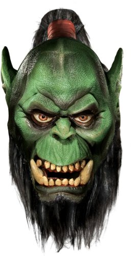 Costume Mask: World Of Warcraft- Orc - Product Description - Full Over-The-Head Latex Mask Of Your Favorite World Of Warcraft Character, Orc. Green Ape-Like Creature With Attached Beard. One Size Fits Most Adults. ...