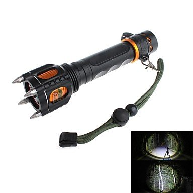 Gg Zweihnder Y51 Rechargeable 5-Mode 1Xcree Xml-T6 Explosion-Proof Led Flashlight (1000Lm,1 X 18650,Black)