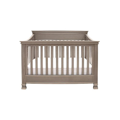 Million Dollar Baby Classic Foothill 4In1 Convertible Crib With Toddler Rail Weathered Grey