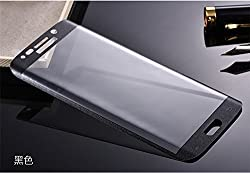 Munoth Ultra Thin CURVED Premium Tempered Glass for Samsung S6 EDGE (FULL) BLACK