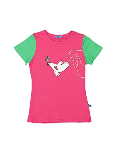 Dolca T-Shirt Manica Corta Birdie [Fucsia]