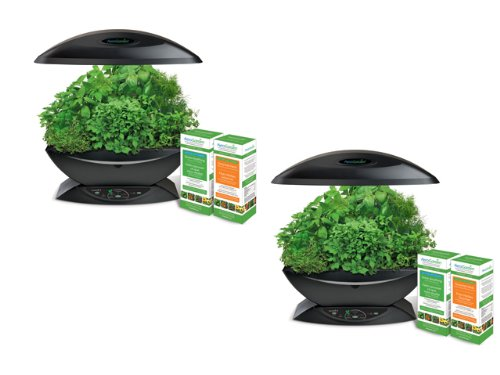 2 Pack Of Aerogarden 7 W/Gourmet Herb & Grow Anything Kits Bonus Packs