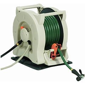 Suncast RSCS100D 100-Foot Water Powered Automatic Rewinding Swivel Garden Hose Reel