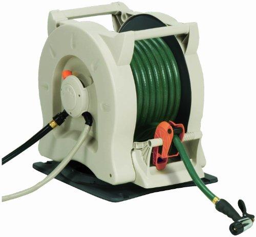 Powered Automatic Rewinding Swivel Garden Hose Reel FREE SHIP | eBay