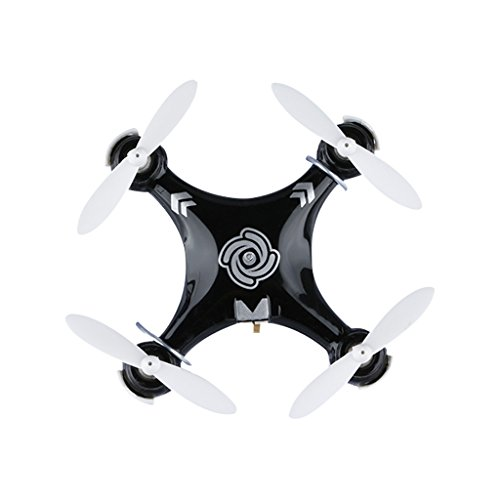 CXHOBBY CX-10A - Mini RTF Drone, Cuadricóptero RC (Modo headless, 6 Axis Giroscopio, 4 Canales, 2.4GHz, 3D eversión, LUZ LED) (Negro)
