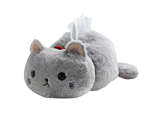 Peluches Poupées Containers Boîtes de mouchoirs de papier Creative (Gray Cat)