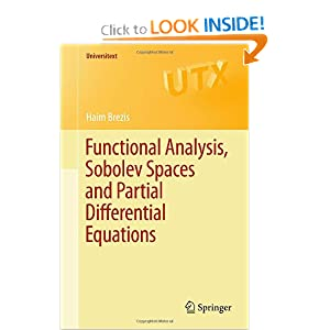 Functional Analysis, Sobolev Spaces and Partial Differential Equations Haim Brezis